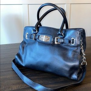 Michael Kors Black leather tote